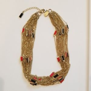 WHBM Gold Multi Chain Short Necklace